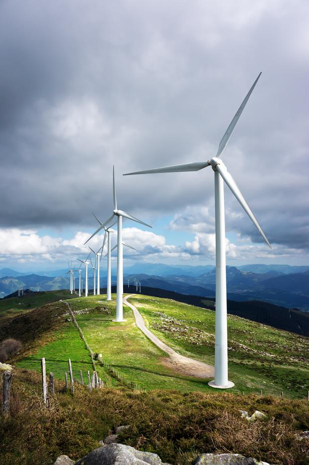 The money can be invested in green energy projects such as wind farms. Stock image