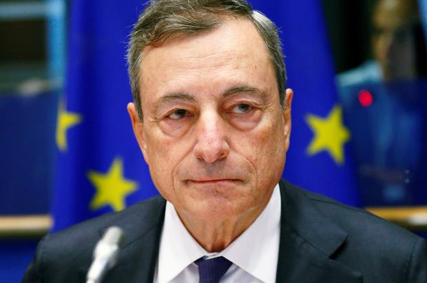 Word is his bond: Outgoing ECB president Mario Draghi's pledge to 'do whatever it takes' is credited with helping to save the euro from collapse in 2012