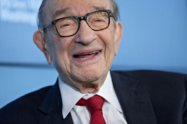 Former Fed chief Alan Greenspan talks pants. Photo: Bloomberg