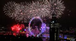 Fireworks erupt in London as the UK enters the year when Brexit could become a reality, and face a long-term hangover. Photo: Leon Neal/Getty Images)