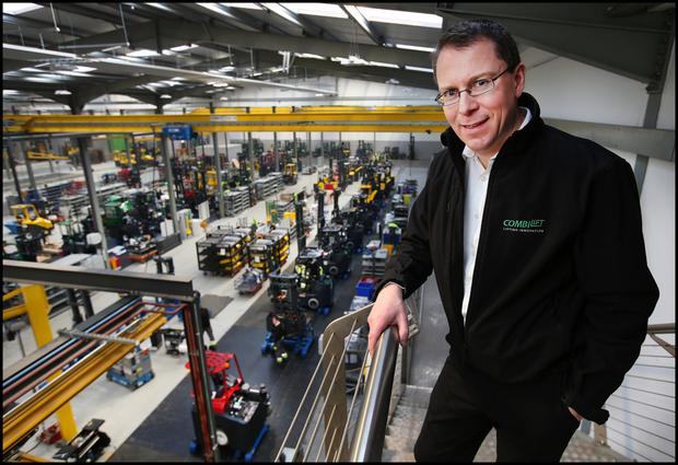 Expansion: Combilift managing director Martin McVicar aims to double the size of the company over the next five years