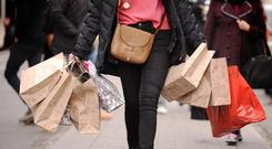 Retail sales were down on a monthly basis for the third month running in January (Stock image)
