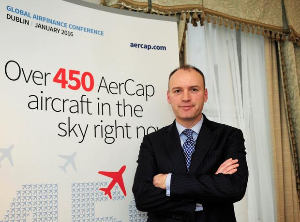 Taking off: Aercap CEO Aengus Kelly said he was confident the business could shrug off collapses in the airline industry