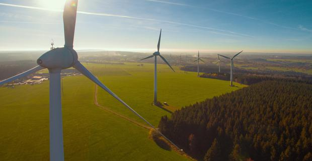 Windfarms investor Greencoat Renewables has raised €147.7m in an oversubscribed share placing. Stock image