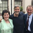 George Clooney met his Abbeyleix relations Seamus and Agnes Clooney on trip to Co Laois