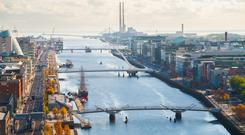 In the first three months of the year, 1.4 million sq ft of office space was transacted in Dublin. Stock photo