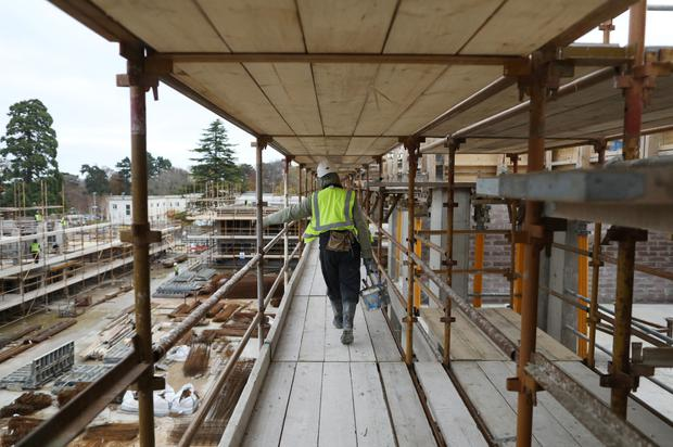 Construction workers are expected to receive a pay rise of more than 9pc that could push up the price of housing and hamper the Government's huge infrastructure plan. Stock picture