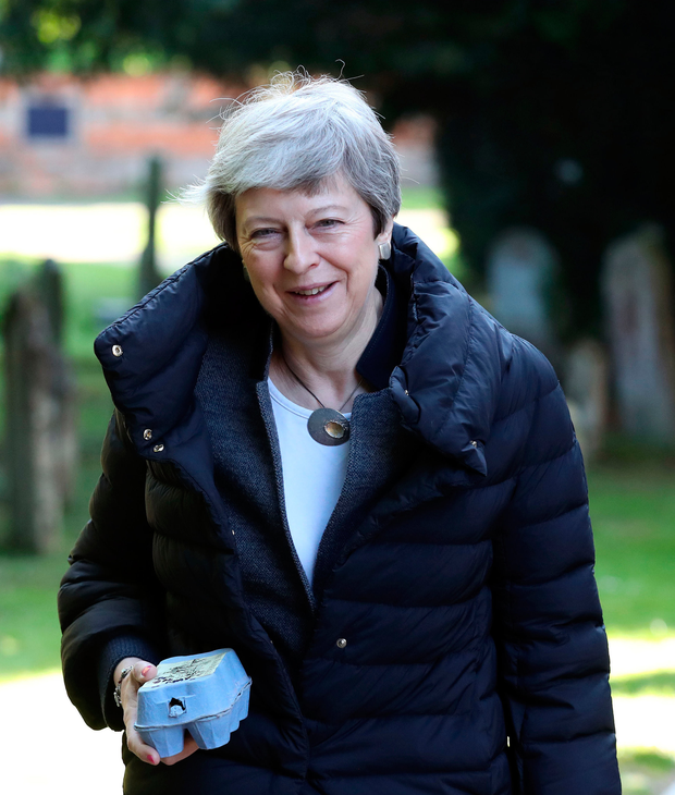 Walking on egg shells: British Prime Minister Theresa May is still trying to get a Brexit deal across the line. Photo: PA Wire