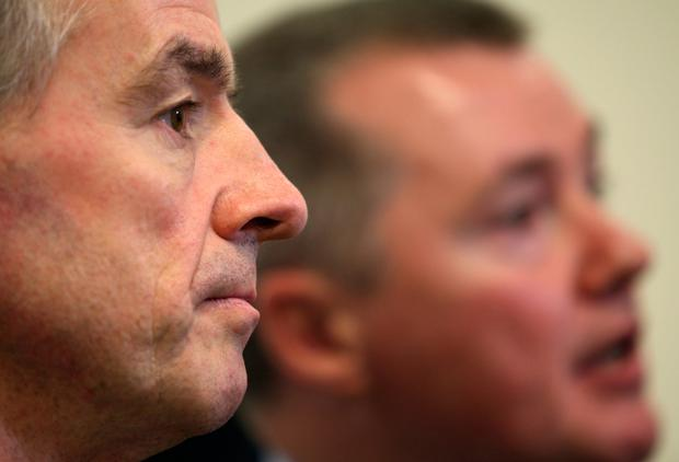 Ryanair and IAG CEOs Michael O'Leary and Willie Walsh