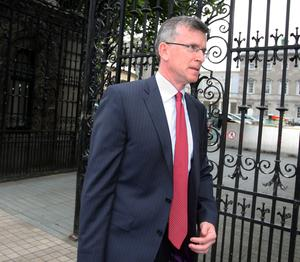 Alan Ahearne, former special Adviser to Brian Lenihan, at Leinster House yesterday