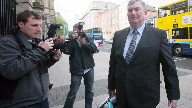 Kevin Cardiff at Leinster House, Dublin, yesterday to appear at the Banking Inquiry. Photo: Gareth Chaney /Collins