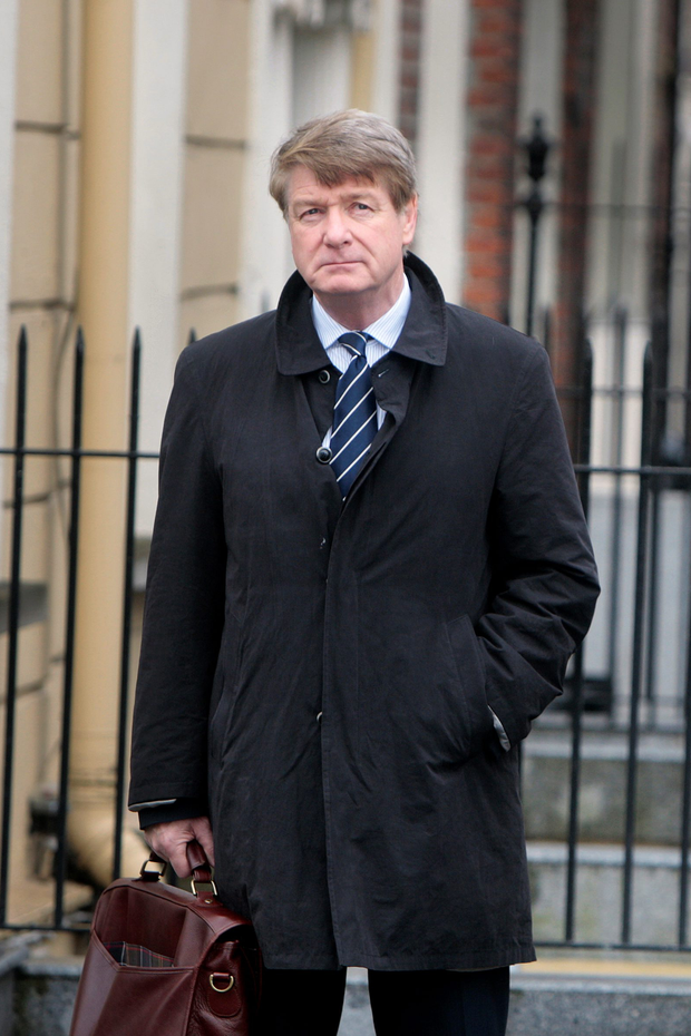Brian O'Donnell arriving at the Banking Inquiry at Leinster House