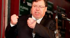 HOLDING NO PUNCHES: Brian Cowen came out fighting and Enda Kenny should be very worried as the Banking Inquiry looks like it could hasten the rehabilitation of Fianna Fail