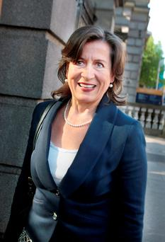 Cathy Herbert arriving at Leinster House yesterday