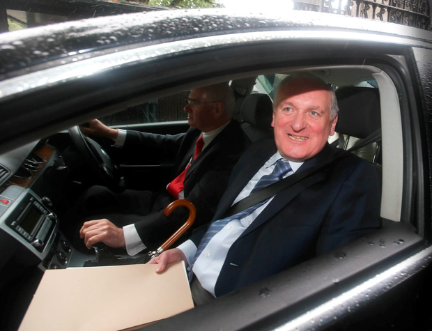 Bertie Ahern, arrives to attend the banking enquiry
