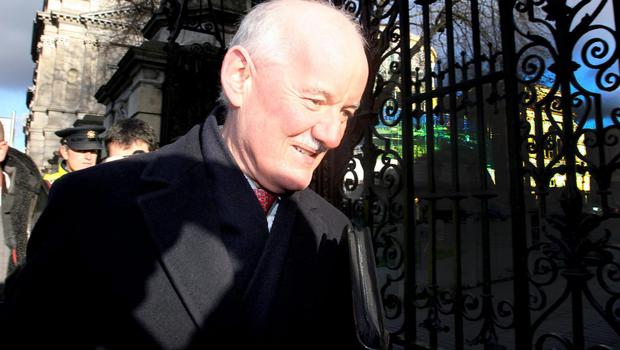 FACING THE PAC: Former financial regulator Patrick Neary arrives at Leinster House