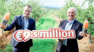 Peter Bough, buying director with Aldi Ireland and Peter Mulrine, MD of Mulrines.