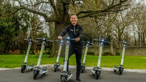 Ready for take-off: Lee Roche, chief executiveof Smart Scooters