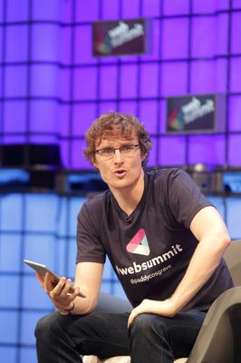 Paddy Cosgrave...06/11/14 Paddy Cosgrave pictured at the Web Summit at the RDS, Dublin this morningÉ Pic Stephen Collins/Collins Photos