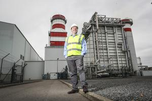 Geoff Codd, Energia's head of marketing, at Huntstown Power Plant. Photo: Connor McCabe
