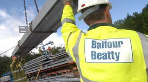 Withdrawal: Construction firm Balfour Beatty is leaving the Irish market