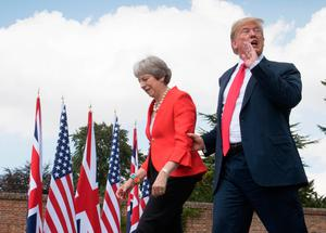 UK Prime Minister Theresa May will be hoping to hammer out a favourable trade deal with US President Donald Trump if Brexit proceeds