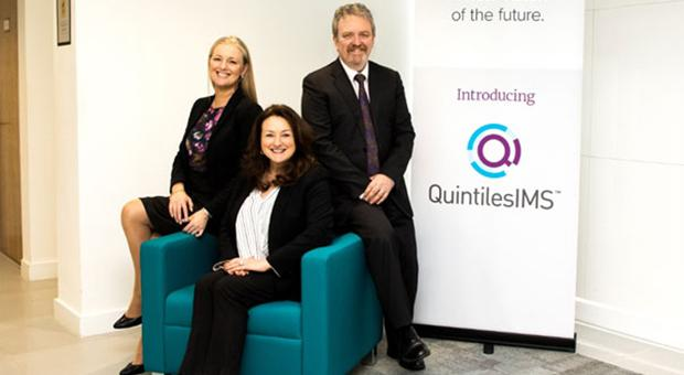 L to R: Noelle Murray Hospital Medical Representative, Anita Sherlock Associate Director Resourcing, Paul Byrne Head of Commercial Operations, (Integrated Engagement Services) QuintilesIMS Ireland.