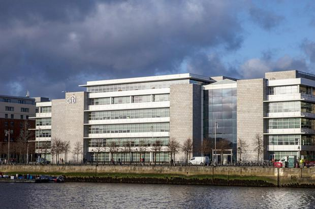 Citi Bank could look to grow numbers at its Irish base in North Dock, Dublin. Photo: Bloomberg