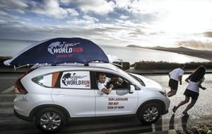 Irish and Munster rugby player, Simon Zebo is a race ambassador and driver of the Catcher Car for the Irish race of the 2015 Wings for Life World Run