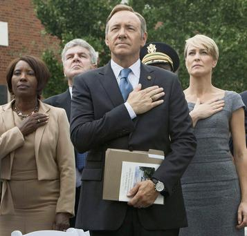 'House of Cards', starring Kevin Spacey, centre, has helped fuel Netflix's remarkable rise.
