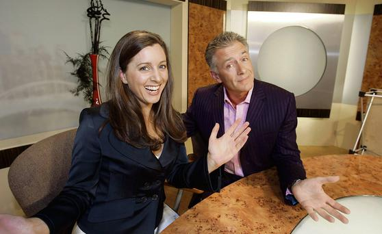 TV3's Sinead Desmond and Mark Cagney.