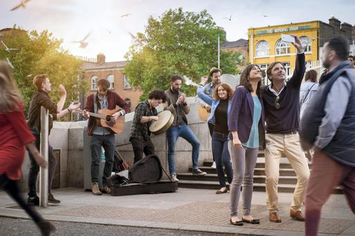 The Grow Dublin Taskforce Alliance (GDTA) aims to create a new image for the capital. Pictured in a Tourism Ireland TV ad is a group of young tourists at the Ha'penny Bridge