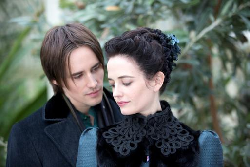 Reeve Carney as Dorian Gray and Eva Green as Vanessa Ives in the TV series 'Penny Dreadful, which is filmed in Ireland