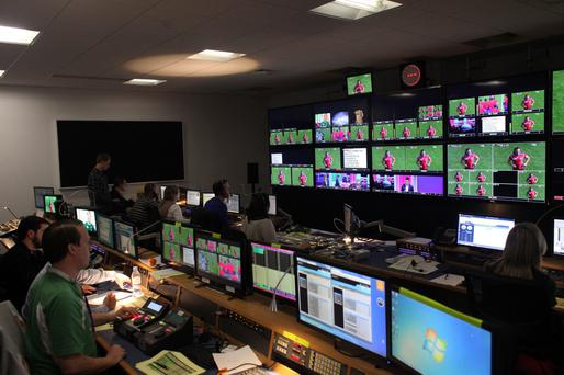 TV3's World Cup production suite. Photo: Martin Maher