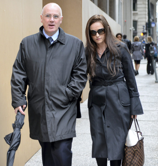 David Drumm and wife Lorraine at a previous court appearance Photo: Josh Reynolds