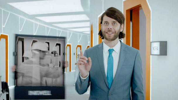 Geoff, the 'head of customer experience', in the new Meteor campaign. Meteor currently commands 11.5pc of the Irish mobile data market