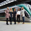 Exterion Media executives Sandra Doyle, Emma Brennan and Antoinette O'Callaghan pictured with Kinetic's Caroline DeCourcy and Grainne Dilleen