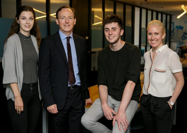 Liadha Madden, Carat; DAN chief executive Liam McDonnell; Peter Forde, Vizeum; and Sinead Duell. Photo: Roger Kenny