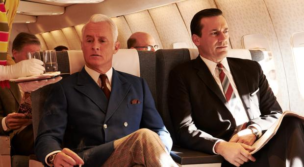 John Slattery as Roger Sterling and Jon Hamm as Don Draper in Mad Men Picture: Lionsgate