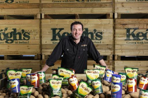 Potato-grower Tom Keogh, last year's winner of the Marketer of the Year award