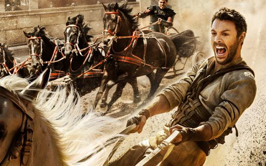 A scene from this year's remake of the swords-and-sandals movie classic 'Ben Hur'