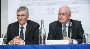 Takeover: INM CEO Michael Doorly (left) with chairman Murdoch MacLennan