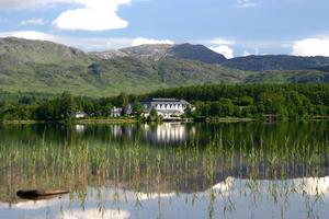 Harvey's Point hotel overlooks Lough Eske in Donegal