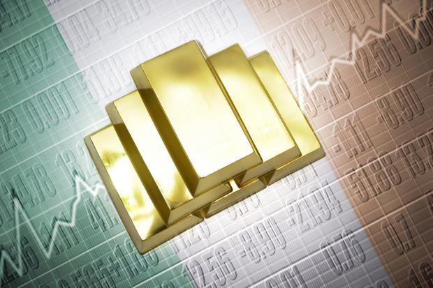 'Before the crisis, gold was selling for about €1,340 an ounce. It is currently at €1,400 but has peaked at over €1,550 in recent weeks'. (stock picture)
