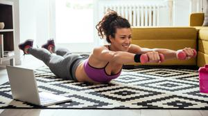 The crisis has seen many people tune into online workouts, so that they can exercise in the confines of their home