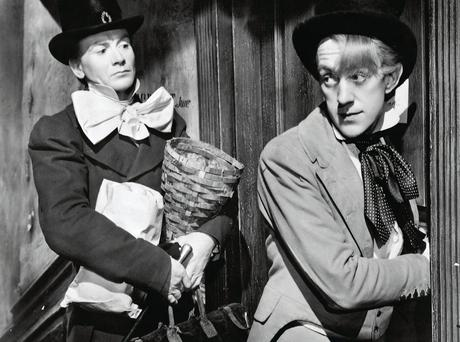 IN THE MONEY: In Charles Dickens's 'Great Expectations', Pip achieves his ambition to become a gentleman when he inherits a large fortune. John Mills, left, as Pip, and Alec Guinness in David Lean's 1946 film 'Great Expectations', based on the novel