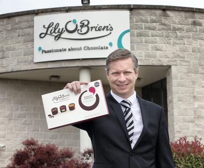 Eoin And The Chocolate Factory: Eoin Donnelly, managing director of Lily O'Brien's, has the sweet stuff in his blood - his father worked for Urney's Chocolate. Photo: Tony Gavin