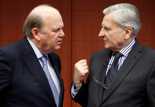 Bitter: Michael Noonan is no doubt pleased at how effective VAT is at extracting money from citizens
