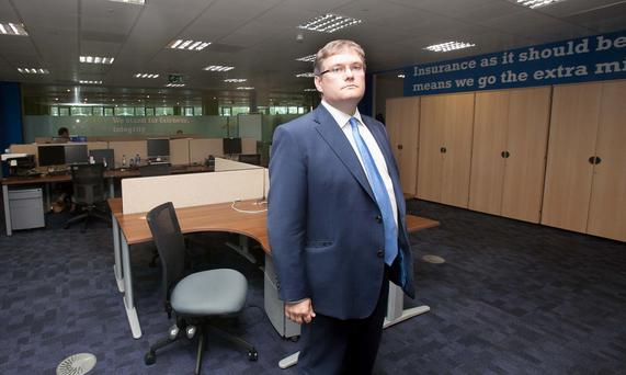 Chief executive of Liberty Insurance Tom McIlduff at the company's office in Blanchardstown, Dublin