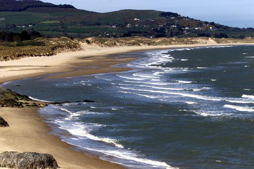 SUN AND SAND: The beach at Brittas Bay in Wicklow